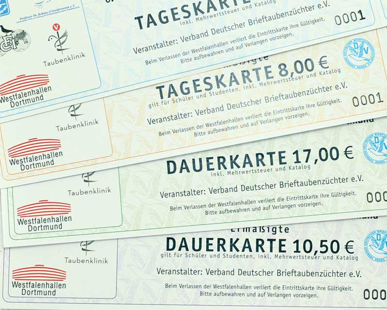 Ticket Vorverkauf Dba Verband Deutscher Brieftaubenzüchter Ev