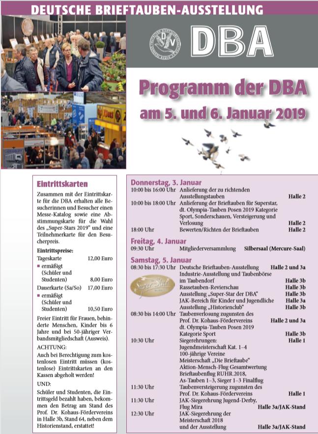 Start Der Dba 2019 Verband Deutscher Brieftaubenzüchter Ev
