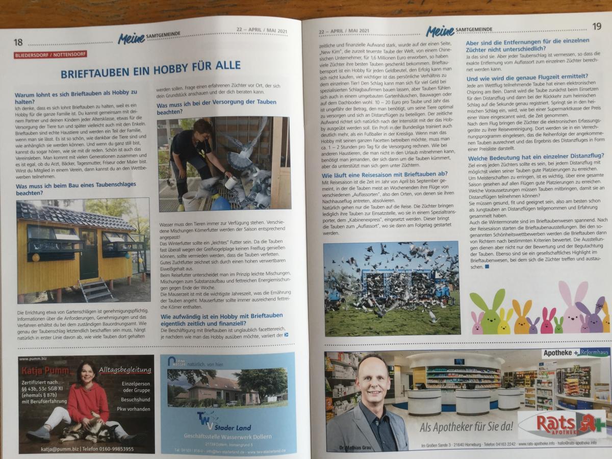 Informationsblatt-fr-die-Einwohner-der-Samtgemeinde-Horneburg-berichtet-ber-brieftaubenfueralleDanke-an-Hans-Wilhelm-Gluesen